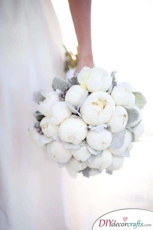 Winter Wonderland - White Peonies