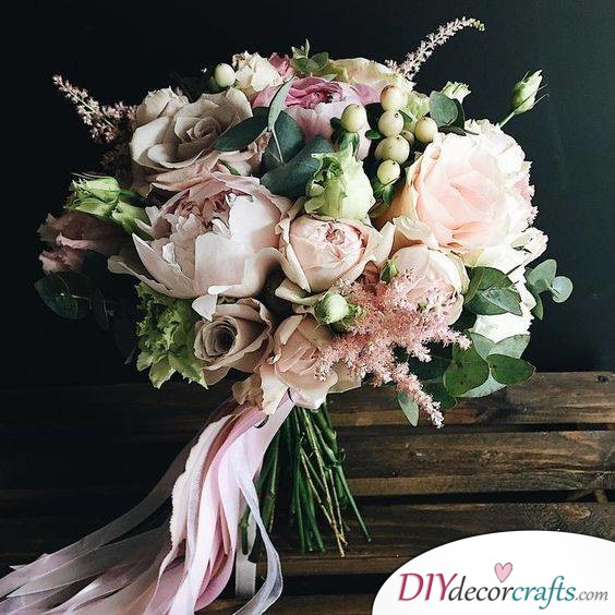 Shades of Pink - Rustic Bridal Bouquet