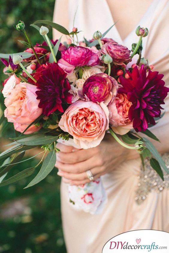 Unique and Vibrant - Rustic Wedding Bouquet