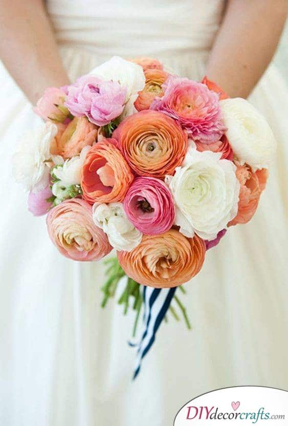 Pink, Coral and White - Awesome Bouquets