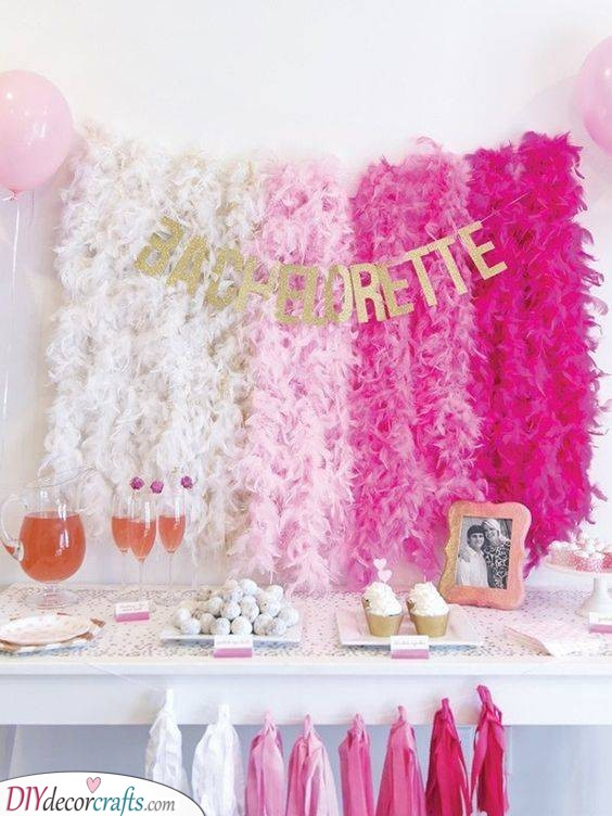 A Flurry of Pink - Bachelorette Party Ideas