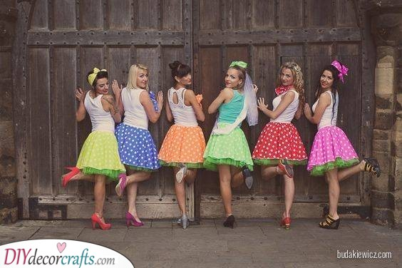 Retro Polka-dots - Great Outfits for Your Bachelorette Party