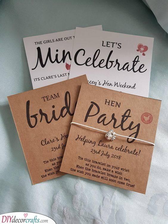 Matching Bracelets - Fun Ideas for Bachelorette Parties