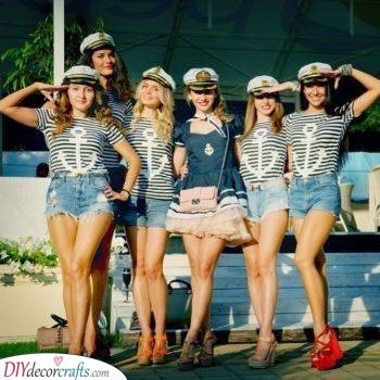 Sailors in Stripes - Another Matching Outfit Idea
