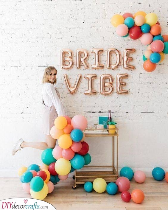 Balloons as a Backdrop - Hen Party Decorations