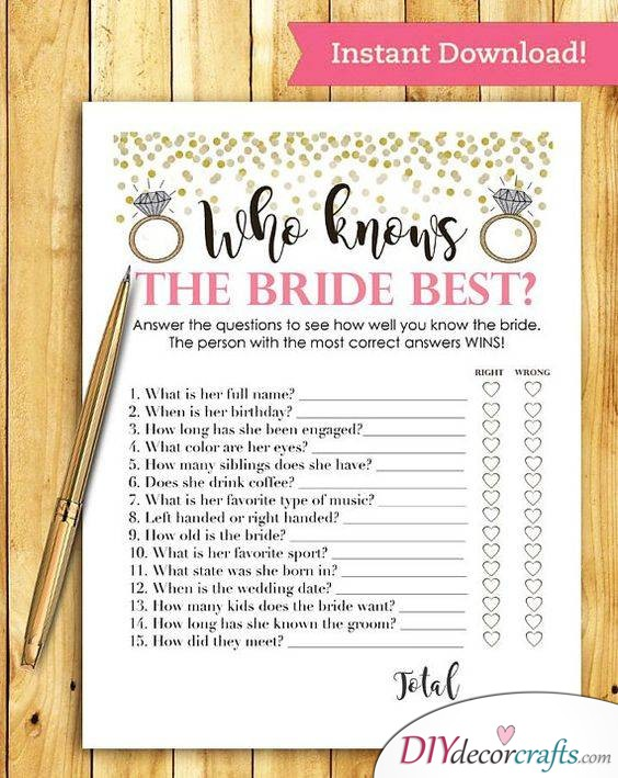 Who Knows the Bride Best - Fun Games