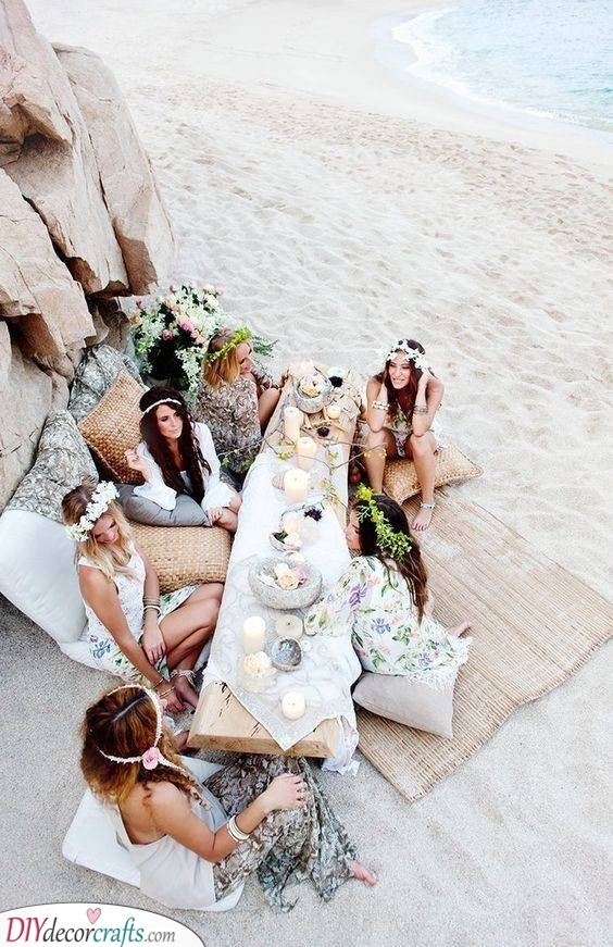 Bohemian Beach Theme - Bachelorette Party Ideas