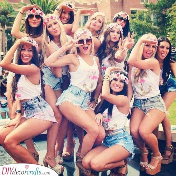 Matching Clothes - Hen Party Ideas