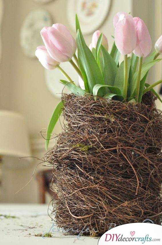 Build a Nest - An Amazing Alternative to Standard Vases