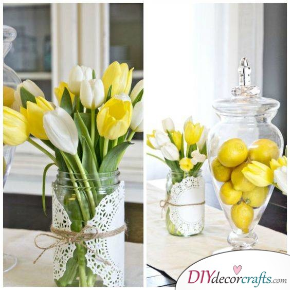 Yellow Tulips in Bloom - Lovely Floral Decorations for Spring