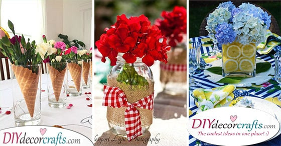 25 UNIQUE SUMMER TABLE DECORATIONS - Summer Table Centrepieces