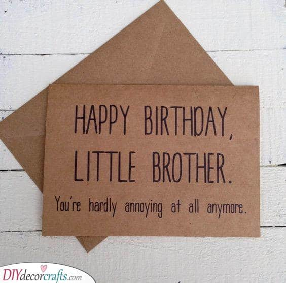 A Heartfelt Letter - Gift Ideas for Your Brother