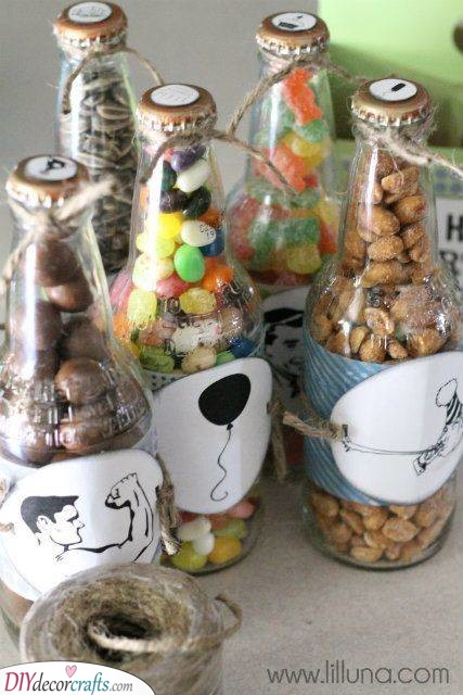 Candy in Bottles - Present Ideas for Brothers