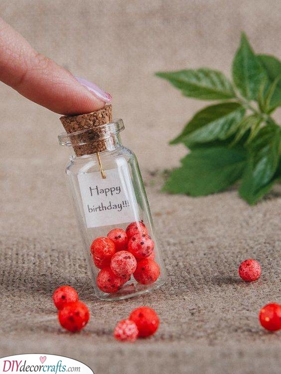Tiny Message in a Bottle - Best Birthday Gifts for Him