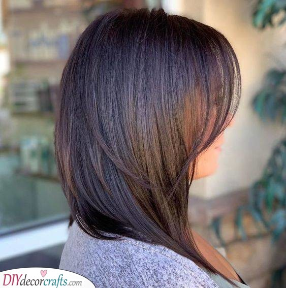 Long A-Line Bob - Smooth and Sleek Hair