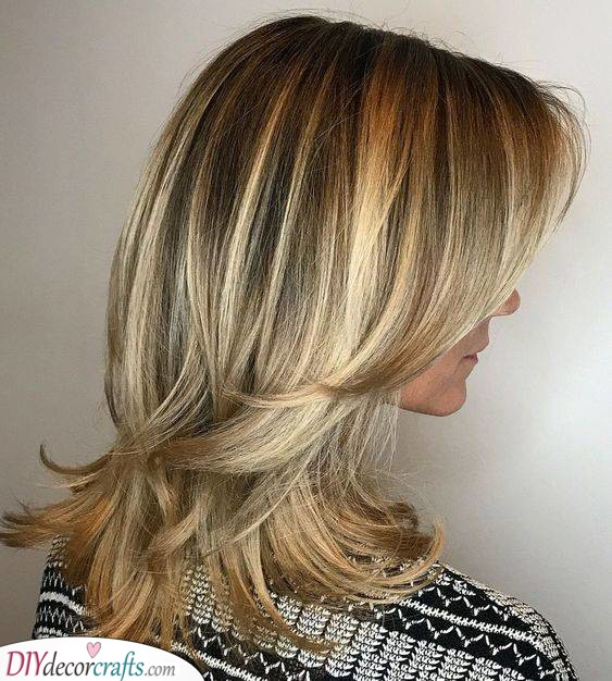 Flicked Ends - Hairstyles for Thin Hair