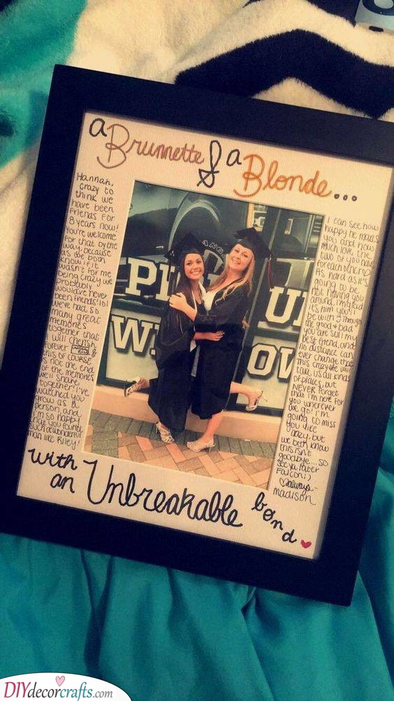 A Framed Photo and Message - Gift Ideas for Girlfriends