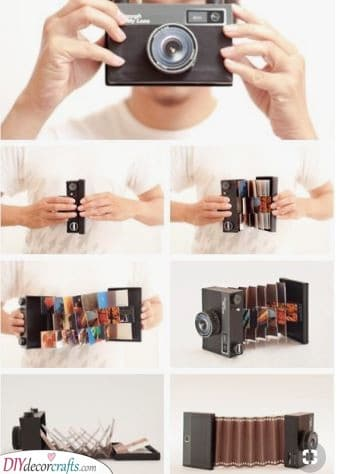 Photos in a Photo Camera - Gift Ideas for Girlfriends