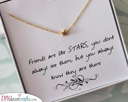 Star Necklace - Paired with a Beautiful Quote