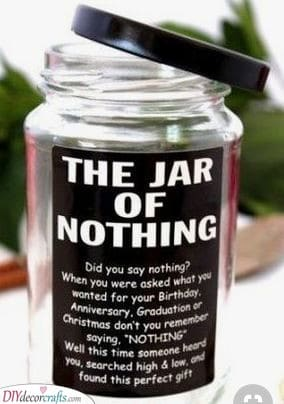 The Jar of Nothing - A Funny Gift Idea