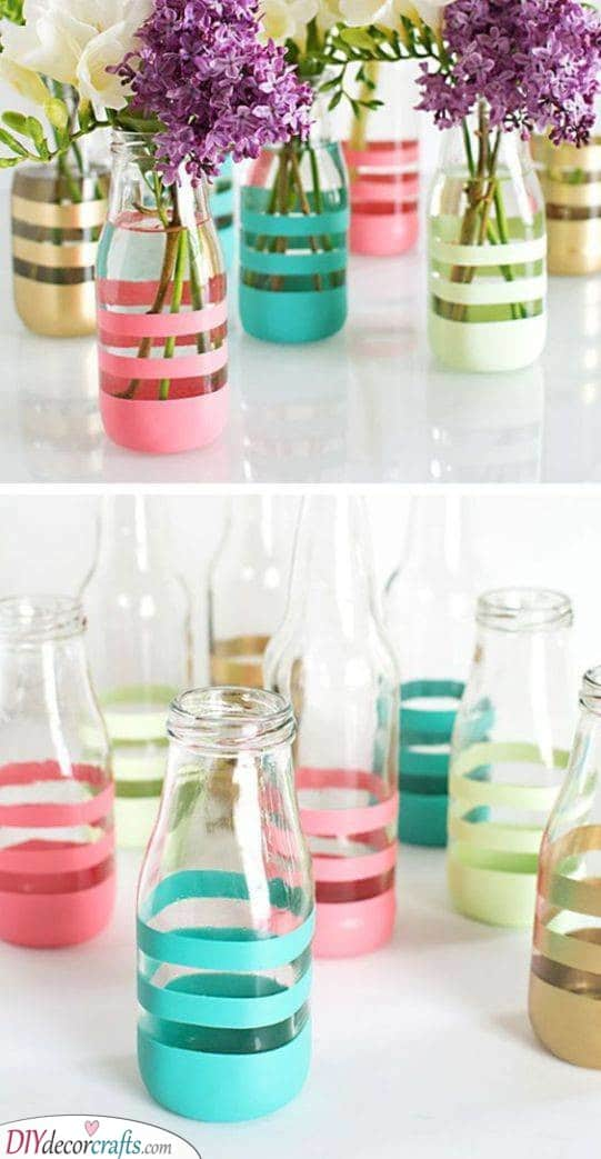 Colourful Vases - Summer Decorations