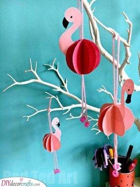Adorable Flamingos - Cute Summer Decorations