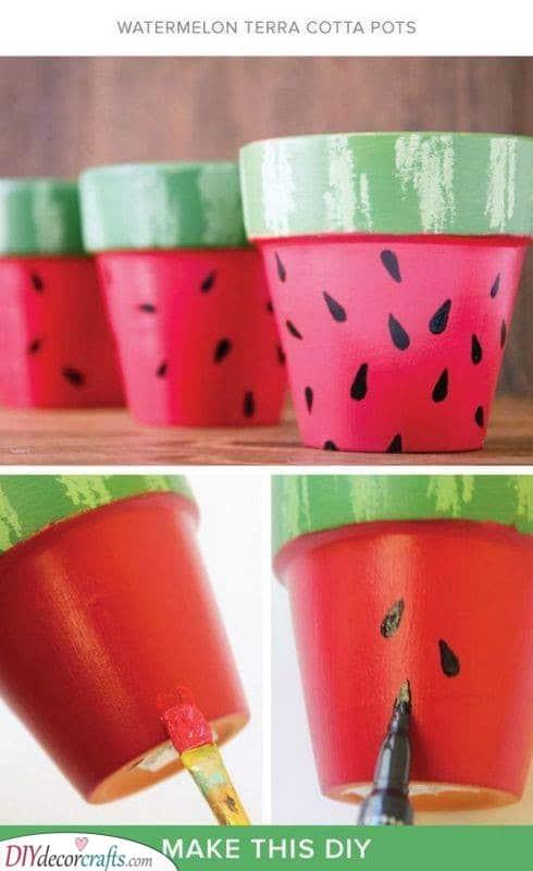 Watermelon Planters - Adorable Planter Ideas