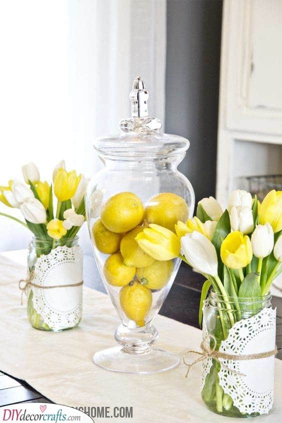 Lemons in a Jar - Paired with Tulips