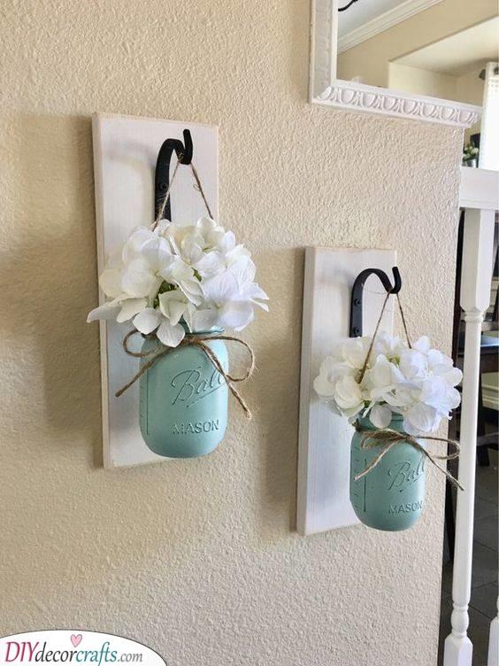 Outdoor Vases - Mason Jar Ideas