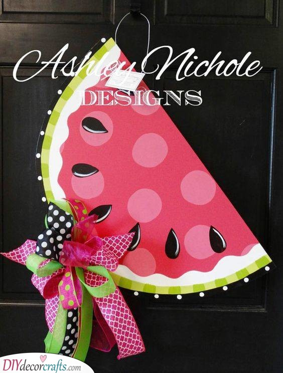 Watermelon Door Design - Summer Decorating Ideas