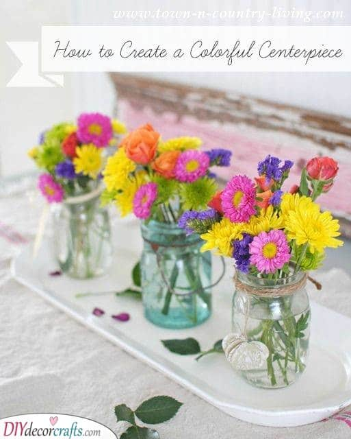 A Colourful Centrepiece - Vibrant Flowers