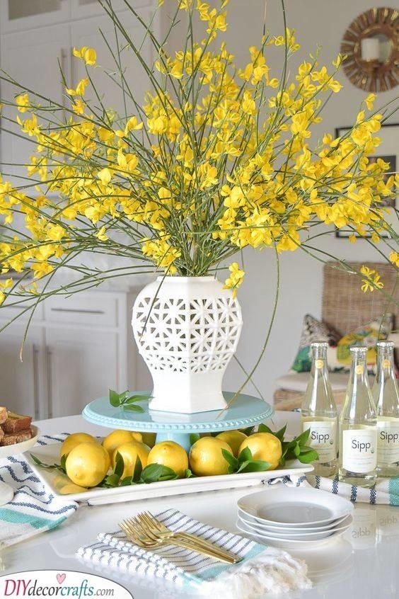Yellow Beauty - Flowers and Lemons