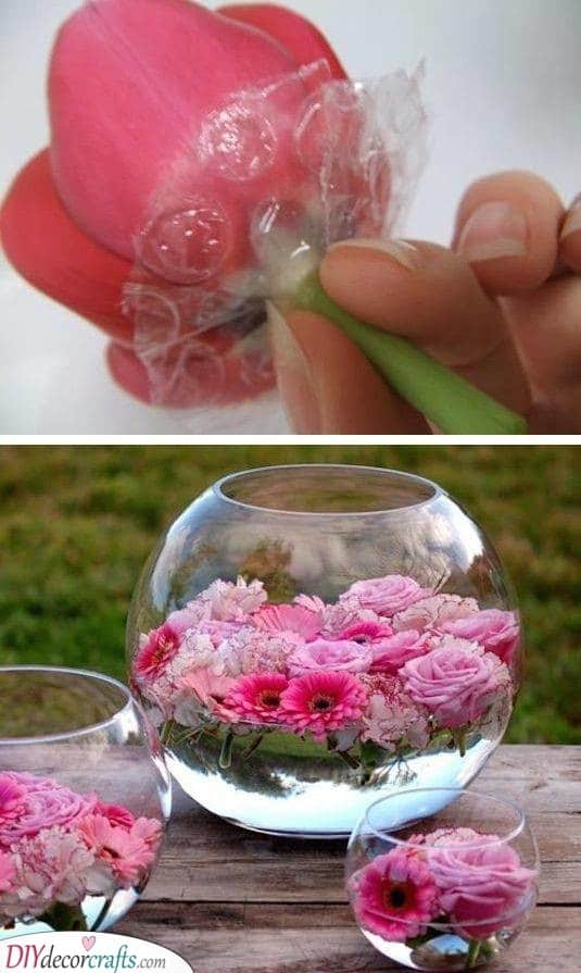 Floating Florals - Beautiful Summer Table Centrepieces