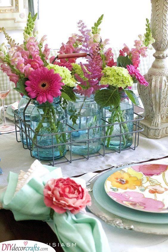 Floral Ideas - Mason Jar Vases