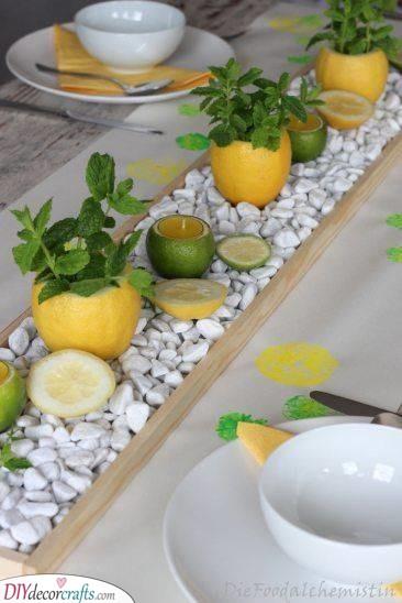More Citrus Decor - Unique Summer Table Centrepieces