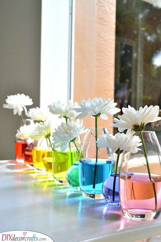 A Whole Rainbow - Creative Summer Table Centrepieces