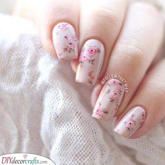 Gorgeous Roses - Special Spring Nail Designs
