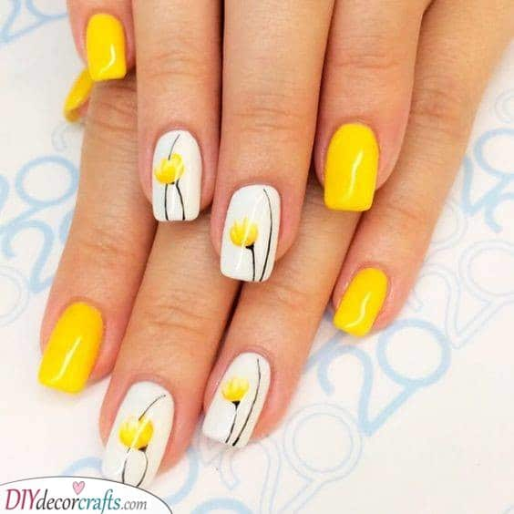 Yellow Florals - Bright and Beautiful