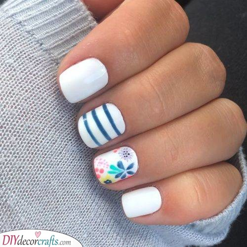 Stripes and Flowers - Classic Spring Effect