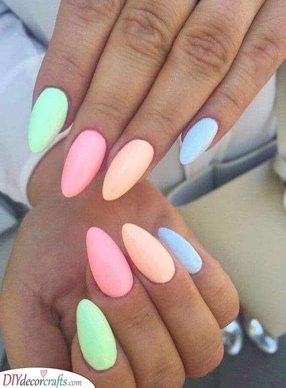Shades of Pastel - Spring Nail Designs