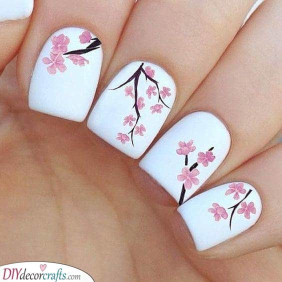 Delicate Cherry Blossoms - Simplicity at its Best