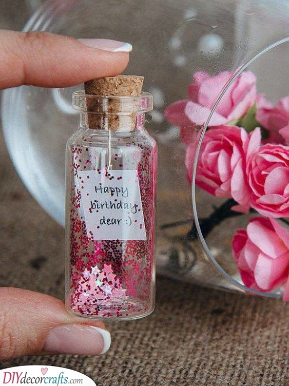 A Birthday Wish - Mini Glitter Jar