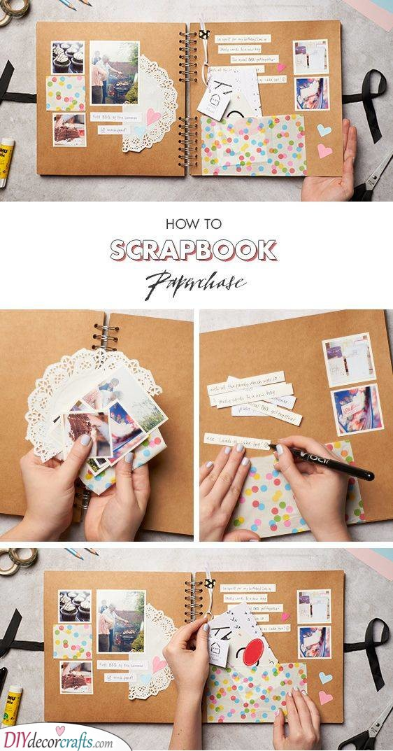 A Scrapbook - Filled with Memories