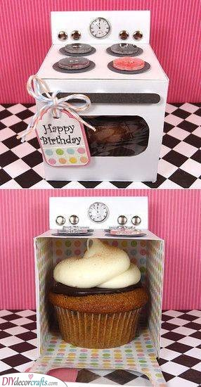 Cupcake in an Oven - Homemade Birthday Gifts