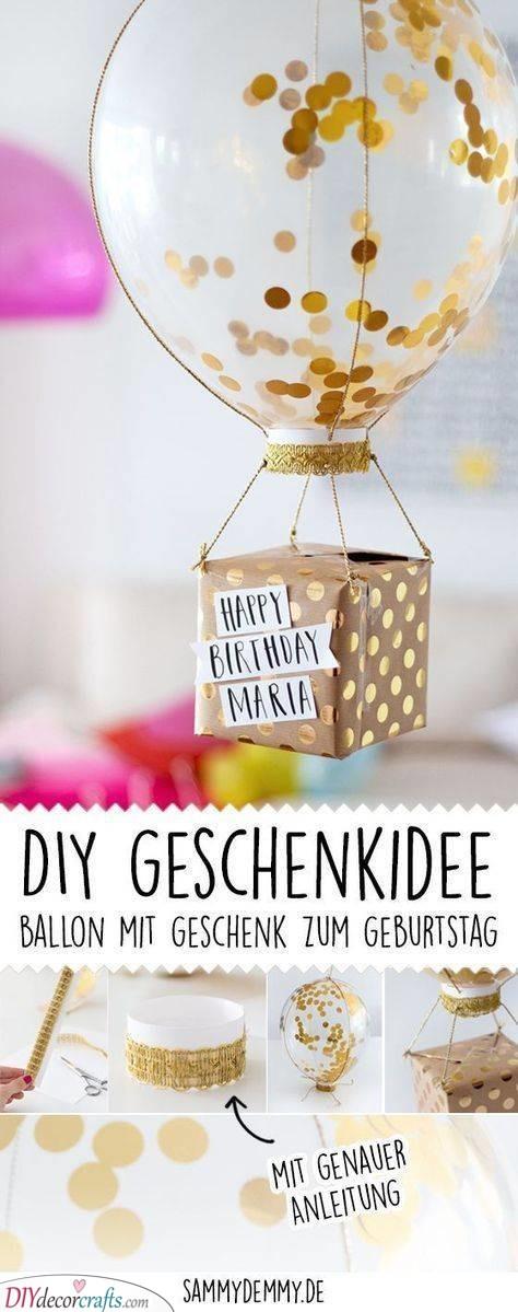 Hot Air Balloon Idea - DIY Birthday Gifts