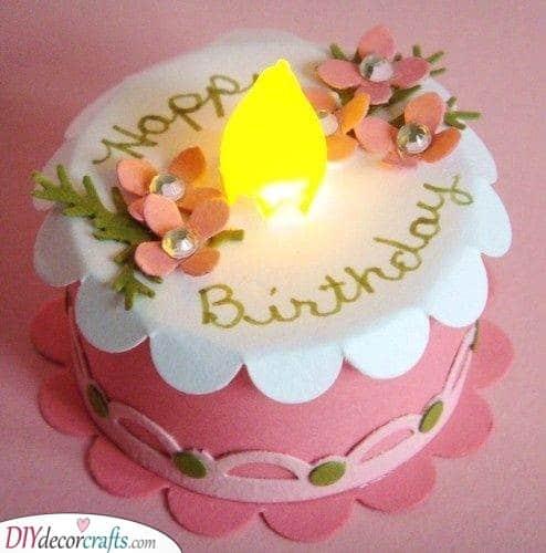Felt Birthday Cake - Homemade Birthday Gifts