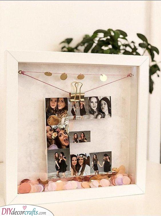 Letter Out of Photos - Fabulous Ideas for Birthday Gifts
