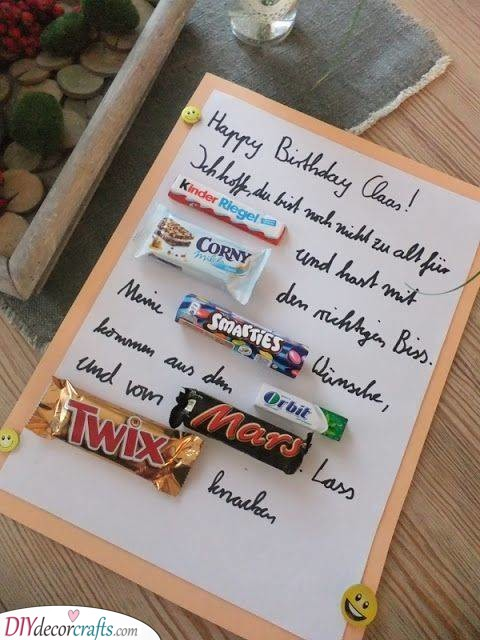A Chocolatey Message - Homemade Birthday Gifts