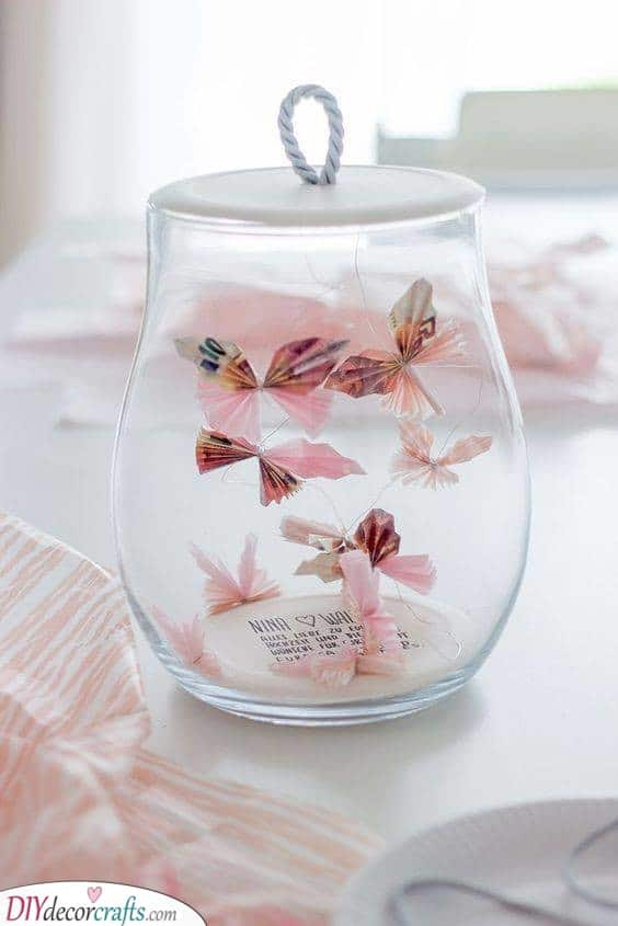 Butterflies Trapped in a Jar - Adorable Birthday Gifts