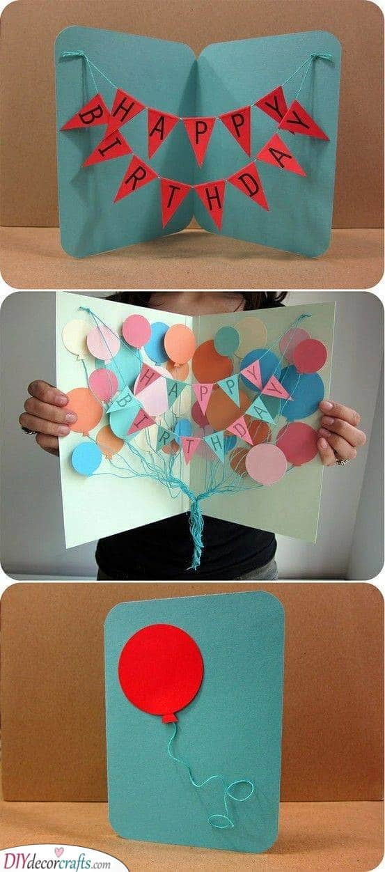 A Beautiful Birthday Card - Handmade Card Ideas